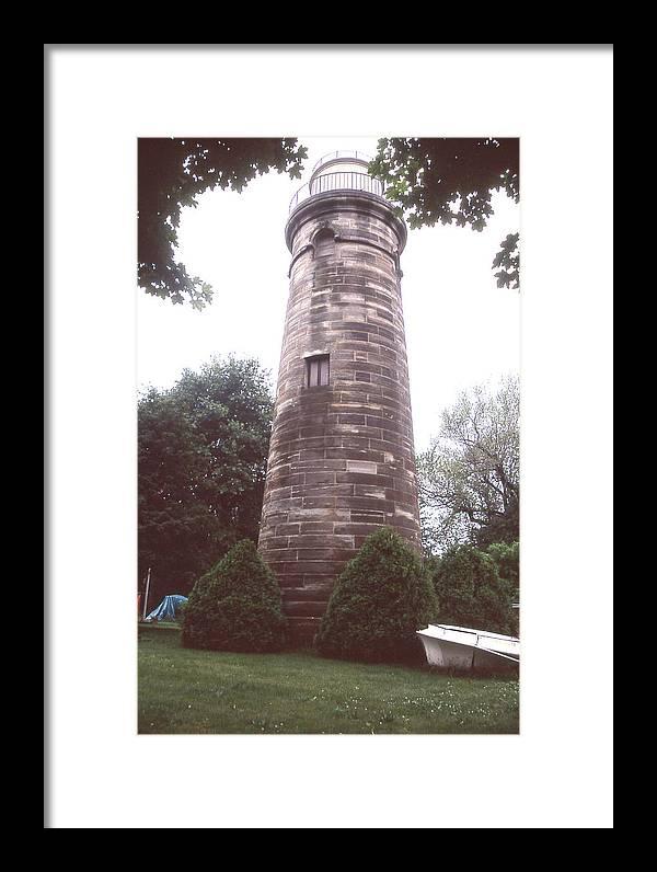 Erie Land Light Framed Print featuring the photograph Erie Land Light by Herbert Gatewood
