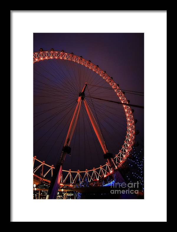 Abstract Framed Print featuring the photograph Eye Lights by Tamson