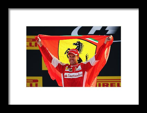 People Framed Print featuring the photograph F1 Grand Prix of Italy by Bryn Lennon
