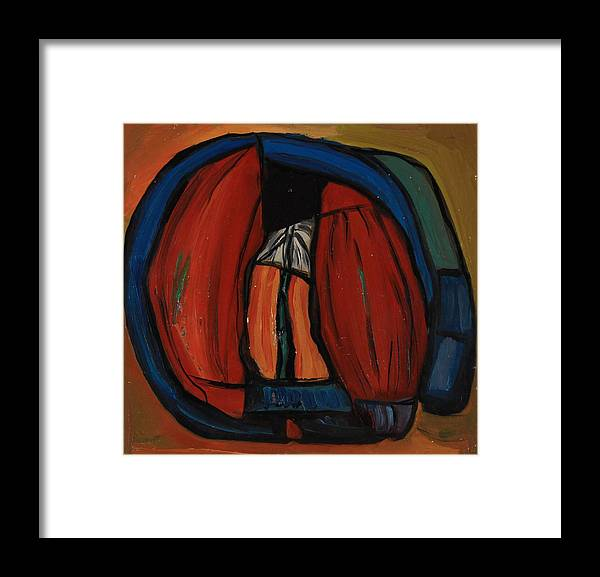 Abstract Framed Print featuring the painting Face by Stefan Shikerov