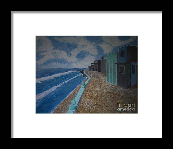 Isla Mujeres Framed Print featuring the painting Facing Cuba by Robert Daniells
