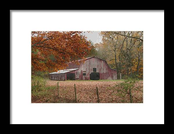 Landscape Framed Print featuring the photograph Fall Barn by Robert Camp