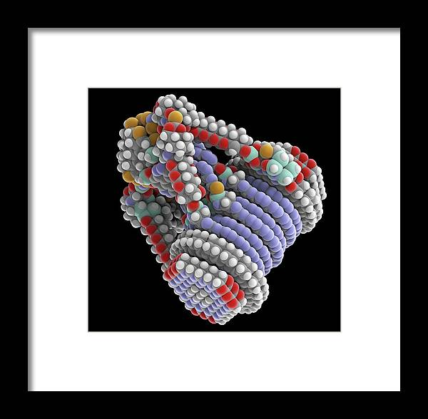 Component Framed Print featuring the photograph Fine-motion Molecular Controller by Alfred Pasieka