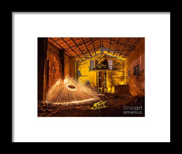 Framed Print featuring the photograph Fire by Eugenio Moya