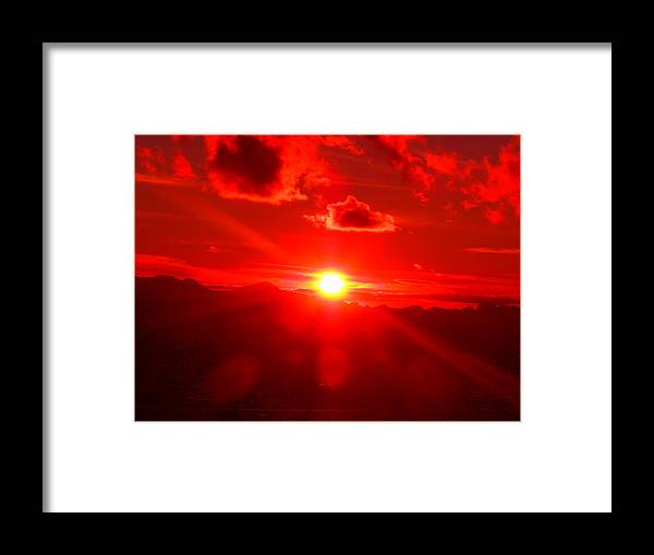 Dramatic Framed Print featuring the photograph Fire In The Sky by James Welch