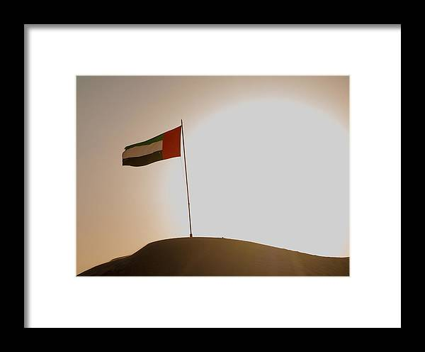 Desert Framed Print featuring the photograph Flag In The Desert by Domingos Soares