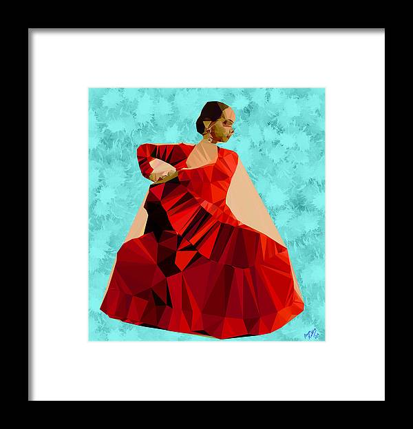 Flamenco. Spanish Framed Print featuring the painting Flamenco Dancer In Spain by Bruce Nutting