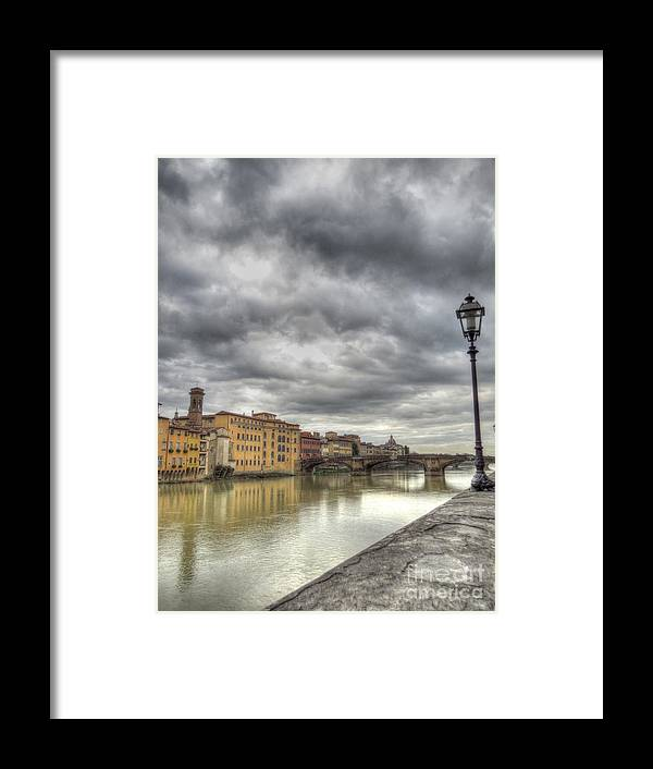 Ancient Framed Print featuring the photograph Florence Old Bridge by Ulisse