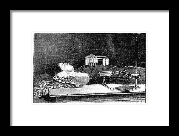 Human Framed Print featuring the photograph Fluoroscopy Experiment by Science Photo Library
