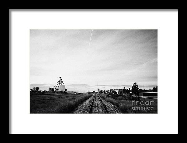 Former Framed Print featuring the photograph former canadian pacific railway now great sandhills railway through leader Saskatchewan Canada by Joe Fox