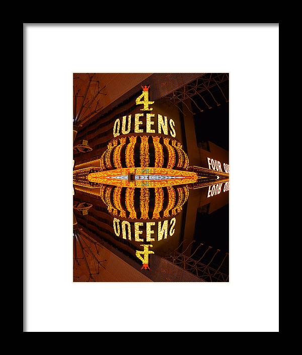 Fremont Framed Print featuring the photograph Four Queens 2 by Michael Anthony