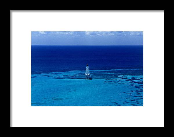 Fl Framed Print featuring the photograph Fowery Rocks Lighthouse by Skip Willits