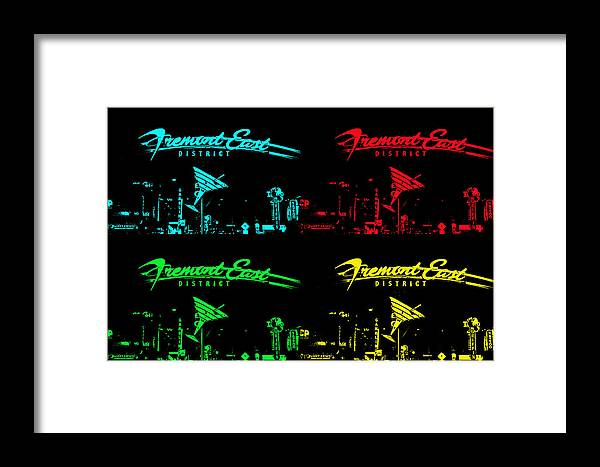 Fremont Framed Print featuring the photograph Fremont East by Michael Anthony