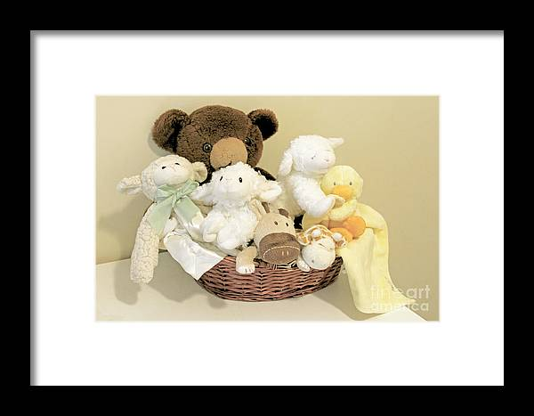 Stuffed Animals Framed Print featuring the photograph Friends by Rosemary Aubut