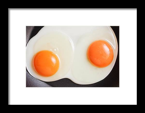 Albumin Framed Print featuring the photograph Frying Eggs by Tom Gowanlock