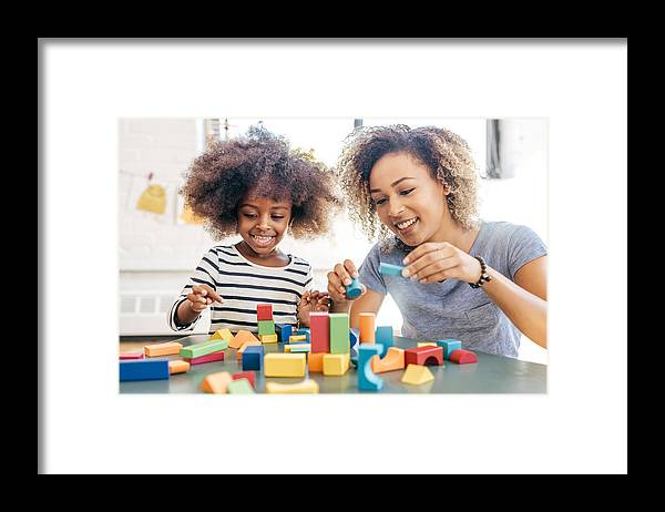Toddler Framed Print featuring the photograph Fun activities for 3 years old by Weekend Images Inc.