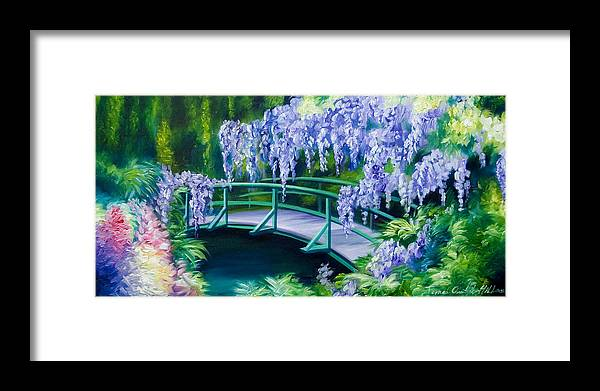 Bright Clouds Framed Print featuring the painting Gardens of Givernia II by James Christopher Hill