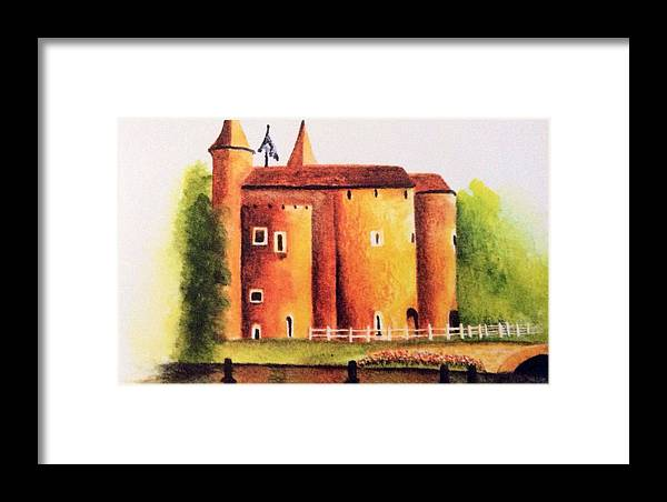 Historic Site Framed Print featuring the painting Gateway To Brugge by Nancy Hanrath