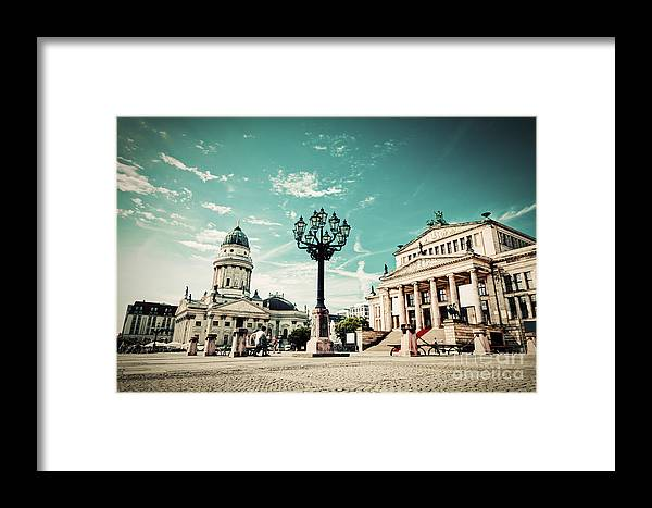Gendarmenmarkt Framed Print featuring the photograph Gendarmenmarkt In Berlin Germany by Michal Bednarek