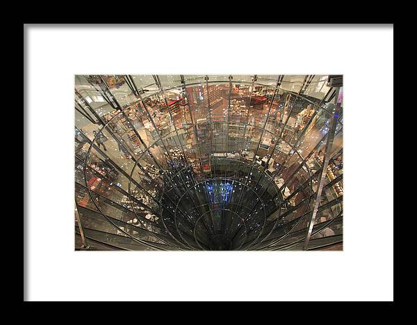 Glass Spiral Framed Print featuring the photograph Glass Spiral by Christiane Schulze Art And Photography