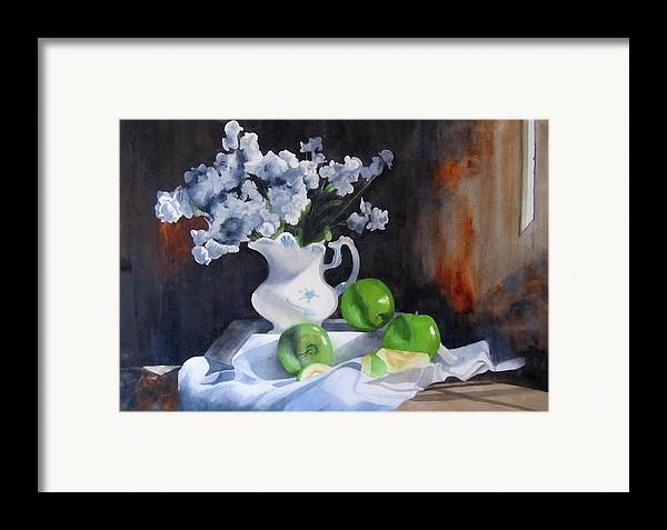 Still Life Framed Print featuring the painting Glenda's Still Life by Denny Dowdy