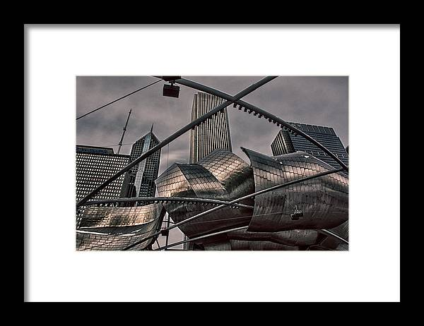 Chicago Framed Print featuring the photograph Going Up by Ryan Crane