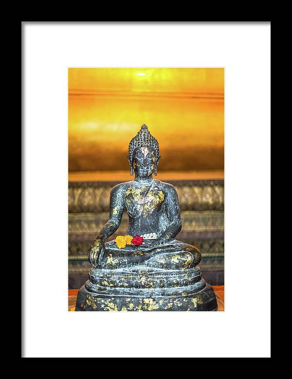 Southeast Asia Framed Print featuring the photograph Grand Palace In Bangkok by Deimagine