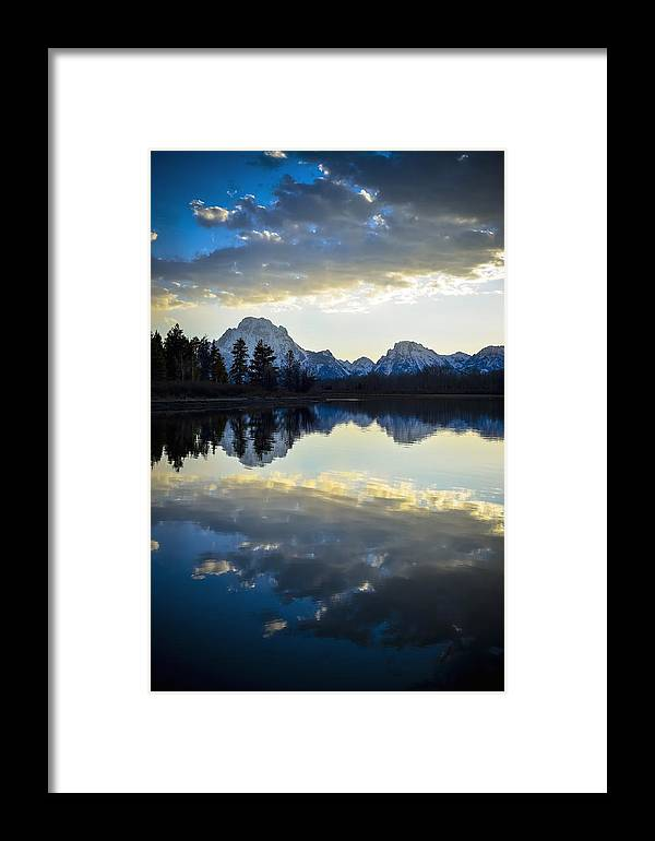 Sunset Framed Print featuring the photograph Grand Teton Sunset by RiverNorth Photography