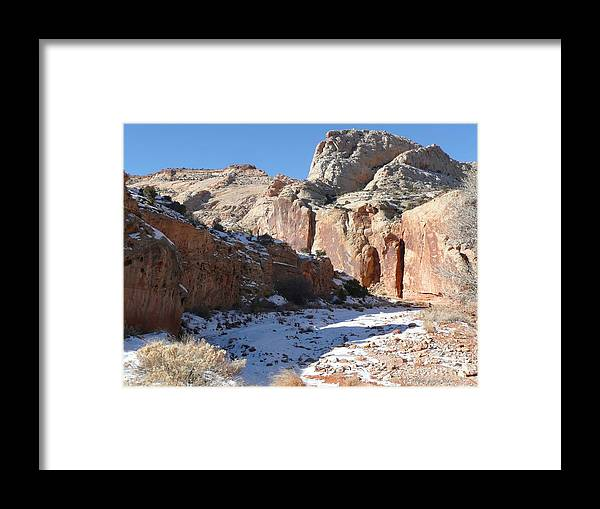 Photographs Framed Print featuring the photograph Grand Wash Capitol Reef Utah by Brian Shaw