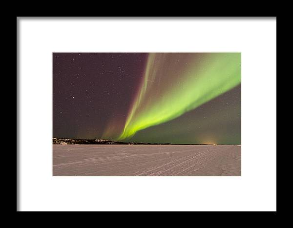 Aurora Borealis Framed Print featuring the photograph Great Slave Aurora by Valerie Pond