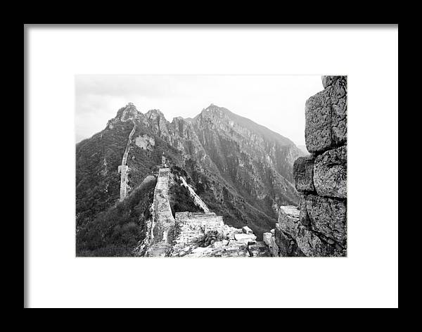 Great Wall Framed Print featuring the photograph Great Wall by Nian Chen