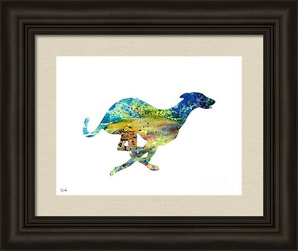 Greyhound  by Watercolor Girl