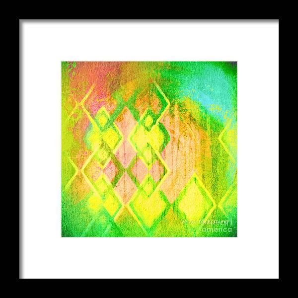 Blank Framed Print featuring the digital art Grunge Retro Vintage Paper Texture by Leksustuss