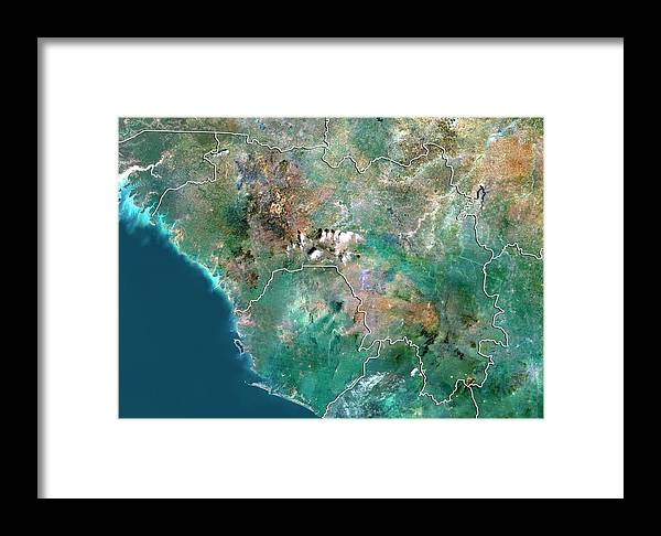 21st Century Framed Print featuring the photograph Guinea by Planetobserver/science Photo Library