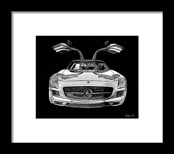 Gullwing Framed Print featuring the digital art Gullwing by Larry Linton