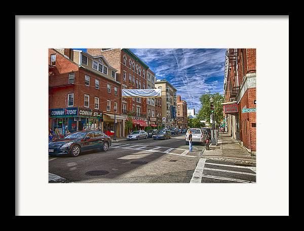 Boston Framed Print featuring the photograph Hanover St. by Joann Vitali