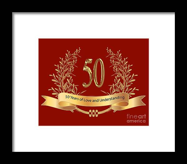 Happy 50th wedding anniversary greeting cards framed print by heinz happy 50th wedding anniversary greeting cards framed print featuring the digital art happy 50th wedding anniversary m4hsunfo