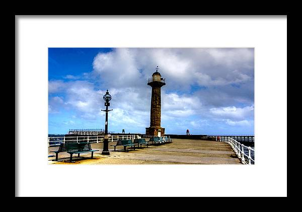 Whitby Framed Print featuring the photograph Harbour Light Whitby by Trevor Kersley