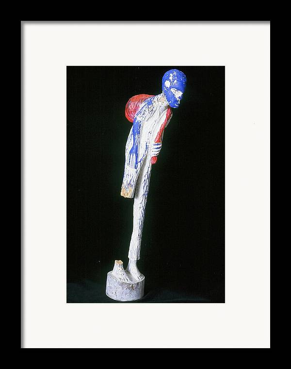 Fine Art Framed Print featuring the sculpture Hardened by Iris Gill