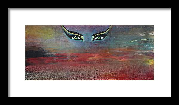 Hathor Framed Print featuring the painting Hathor by Stacey Austin