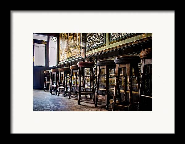 Barstools Framed Print featuring the photograph Have A Seat by Heather Applegate