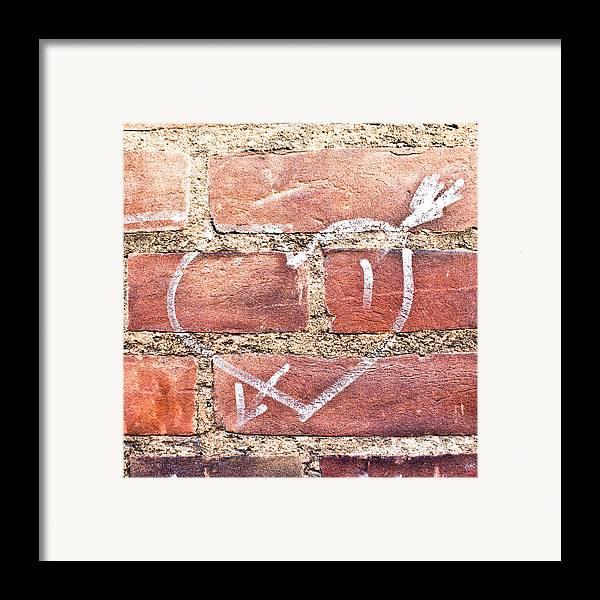 Adoration Framed Print featuring the photograph Heart Graffiti by Tom Gowanlock
