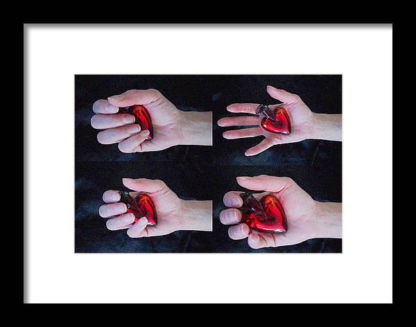 Heart In Hand Framed Print featuring the photograph Heart In Hand by Monte Landis
