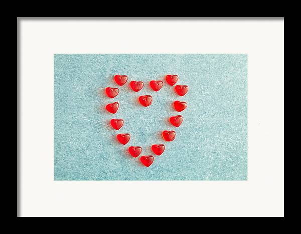Adoration Framed Print featuring the photograph Heart Shape by Tom Gowanlock