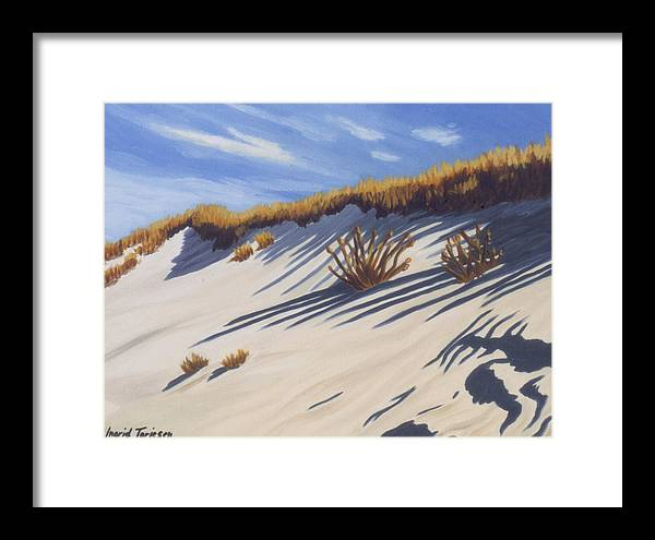 Gin Beach Framed Print featuring the painting High Dune by Ingrid Torjesen