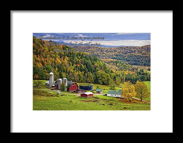Hillside Acres Farm Framed Print featuring the photograph Hillside Acres Farm by Priscilla Burgers