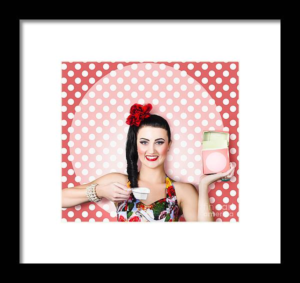 Laundry Framed Print featuring the photograph Housework Woman With Washing Machine Soap Powder by Jorgo Photography - Wall Art Gallery