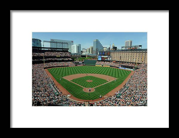 American League Baseball Framed Print featuring the photograph Houston Astros V Baltimore Orioles by Greg Fiume