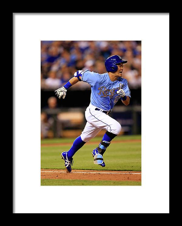 American League Baseball Framed Print featuring the photograph Houston Astros V Kansas City Royals by Jamie Squire