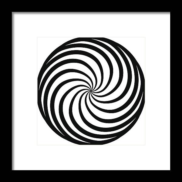 Hypnosis Spiral Concept For Hypnosis Unconscious Chaos Extra Sensory Perception Psychic Stress Strain Optical Illusion On A White Background
